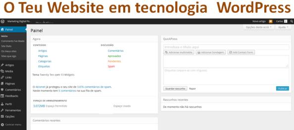 O Teu Website Profissional para o Teu Negócio Online, porquê a Tecnologia WordPress