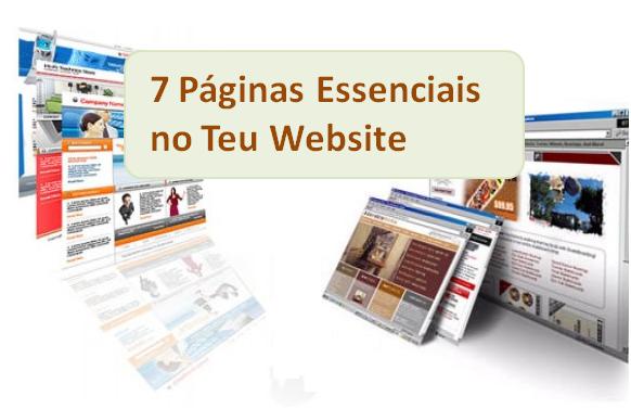 7 Páginas Essenciais no Teu Website do Teu Negócio Online, fundamental na tua estratégia de Marketing Digital