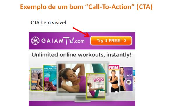 """Exemplo de um bom """"Call-To-Action"""" (CTA)"""