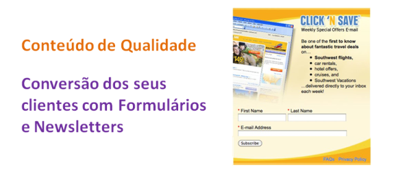 Conversão com Formularios e Newsletters, imagem de Destaque