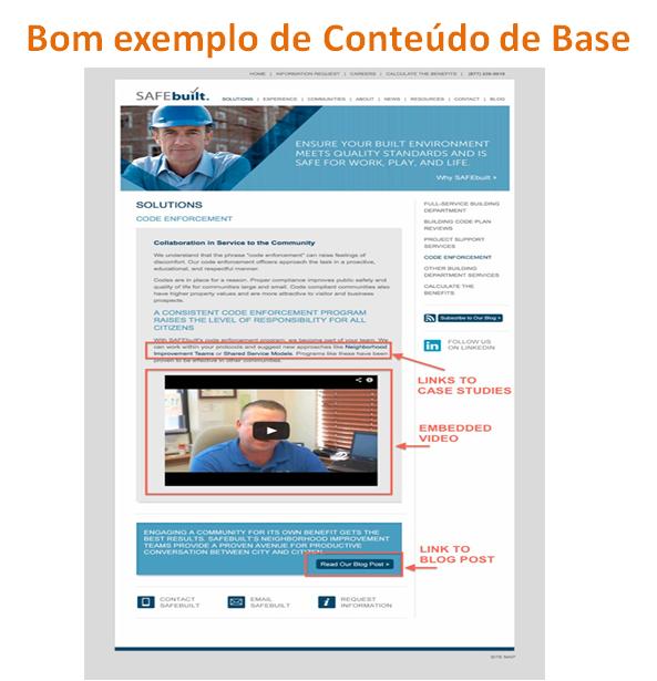Bom exemplo de Conteúdo de Base - marketing de conteúdos