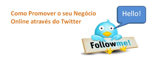 Promover Negócio Online através Twitter