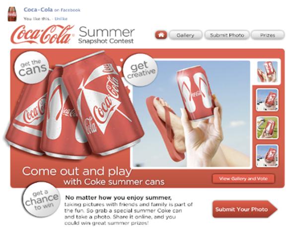 Estratégia de marketing para B2C no Facebook: Coca-cola, para negócio online