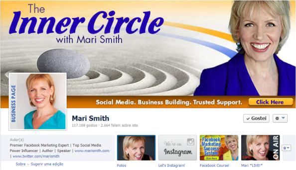 Um exemplo de uma imagem de capa para promover os seus produtos no Facebook