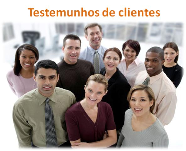 Testemunhos de clientes para negócio online