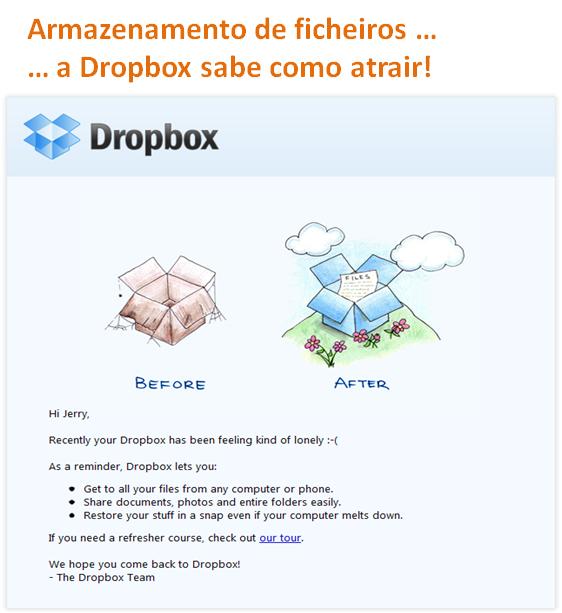Armazenamento de ficheiros, a Dropbox sabe como atrair!