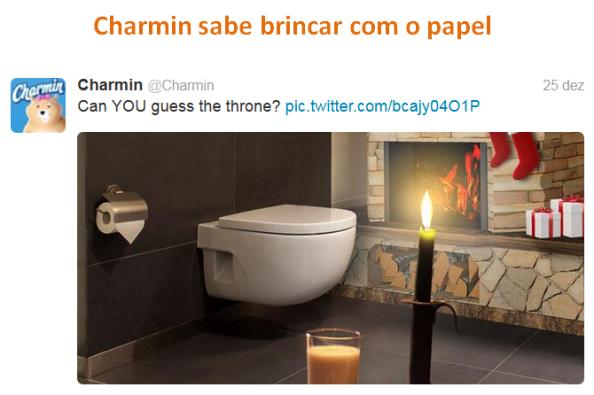 Charmin sabe brincar com o papel