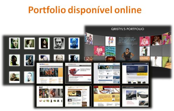 Portfolio disponível online, como começar negócio online