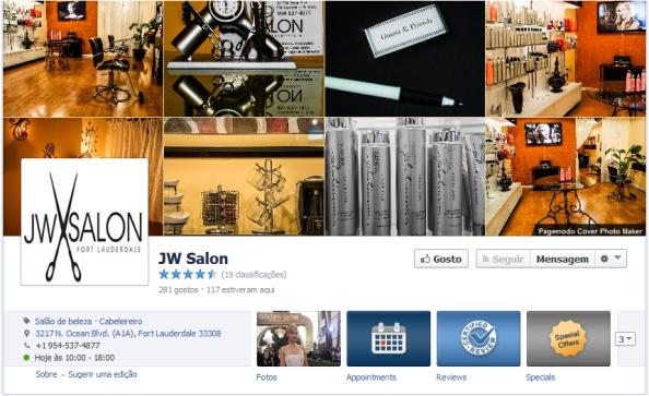 Foto de Capa Facebook JW Salon - Cabeleireiros