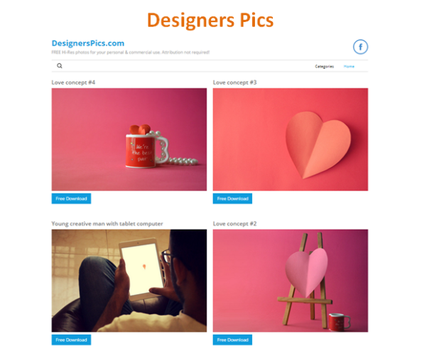 Banco de Imagens Grátis: Designers Pics